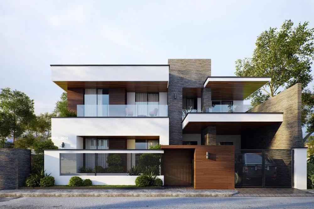 09 Mẫu thiết kế mặt tiền biệt thự hiện đại đẹp